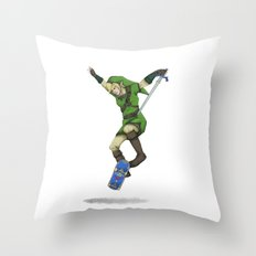 Skater Link - Zelda Throw Pillow