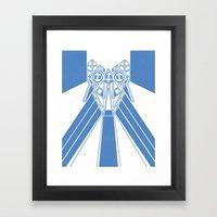 Power Wolf Blue Framed Art Print
