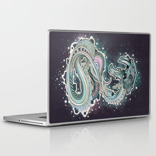 Saber-toothed Serpent in Space. Laptop & iPad Skin