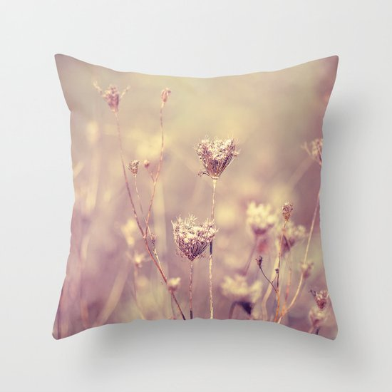 Winter Queen Anne's Lace  Throw Pillow