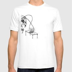 Tape Mens Fitted Tee SMALL White