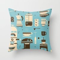 Coffee Paraphernalia   Throw Pillow