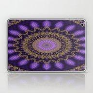 Golden Mandala (violet) Laptop & iPad Skin