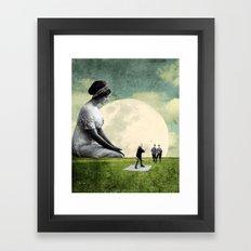 Stellar Moon Framed Art Print