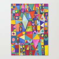 Flame Spectrum Canvas Print