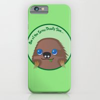 iPhone & iPod Case featuring Adorable Sloth by Adorableinc