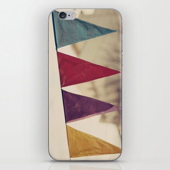Flags (Vintage and retro photopgraphy) iPhone & iPod Skin