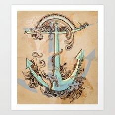 Varuna's anchor Art Print