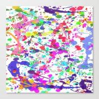 Paint Splatter 1 - White Canvas Print