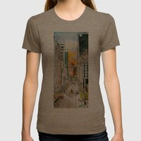 San Francisco at Dusk Womens Fitted Tee Tri-Coffee SMALL