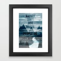 waste Framed Art Print