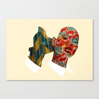 nibbling your ear Canvas Print