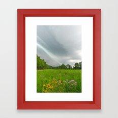 Brewing Summer Storm Framed Art Print