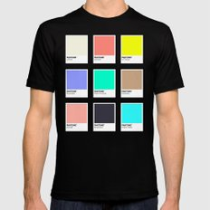 A DESIGNER'S SUMMER Black Mens Fitted Tee SMALL