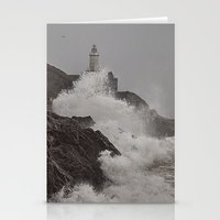 Stationery Card featuring Wild Welsh Waves by Becky Dix