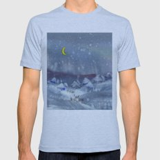 Winter magic Mens Fitted Tee Athletic Blue SMALL