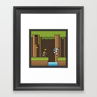 Mega Boss Battles - Chew… Framed Art Print