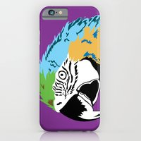 iPhone & iPod Case featuring STATIONERY CARD - Parrot by Negative Space