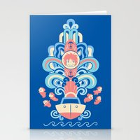 Ponyo Deco Stationery Cards