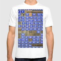 Numbers Mens Fitted Tee White SMALL