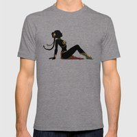 Slave Leia Mudflap Mens Fitted Tee Tri-Grey SMALL