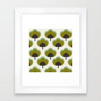 green flowers Framed Art Print