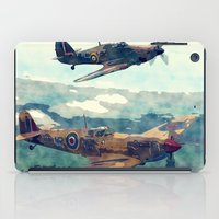 Spitfire And Hurricane Water Color And Sketch`` iPad Case