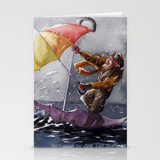 Umbrella Man Stationery Card