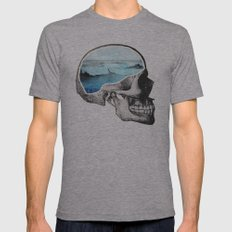 Brain Waves Mens Fitted Tee Athletic Grey SMALL