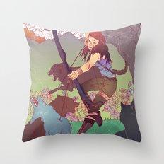 A Survivor is Born Throw Pillow