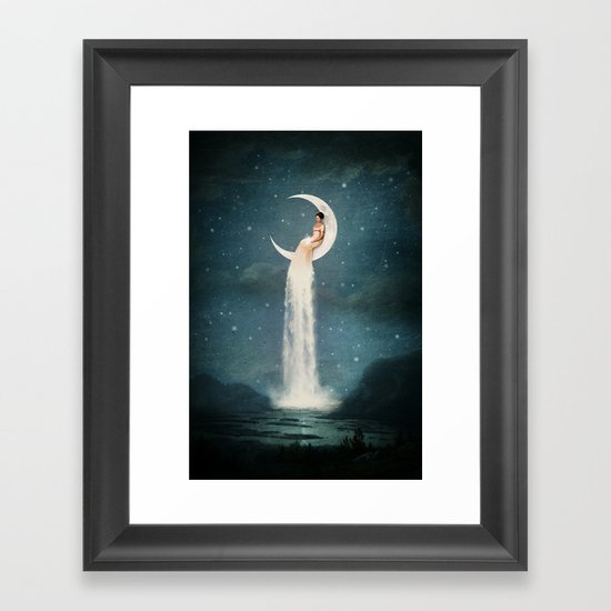 Moon River Lady Framed Art Print By Paula Belle Flores