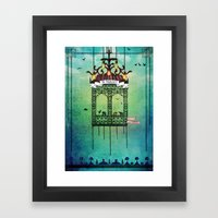 travelling with elephants Framed Art Print