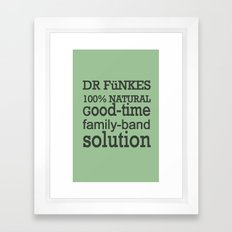 Dr. Funke's 100% natural, good-time family-band solution, 2 Framed Art Print