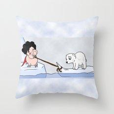 Saving the polar bears Throw Pillow