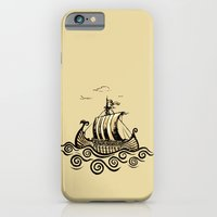 iPhone Cases featuring Viking ship by mangulica