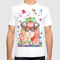Miss Frog White Mens Fitted Tee SMALL
