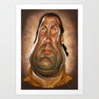 Steven Seagal Art Print