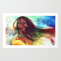 watercolor Art Prints featuring The Wind... by Alice X. Zhang