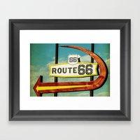 Route 66 Motel Graphic S… Framed Art Print