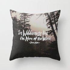 Wilderness Hope x John Muir Throw Pillow