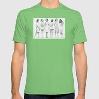 White Girls Mens Fitted Tee Grass SMALL