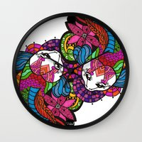 Koi Zentangle Wall Clock