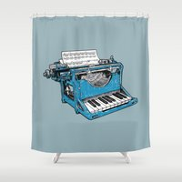 The Composition - Original Colors. Shower Curtain