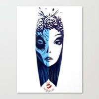 Canvas Print featuring Dos Caras by ~emroca~