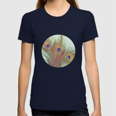 Plumage Womens Fitted Tee Navy SMALL