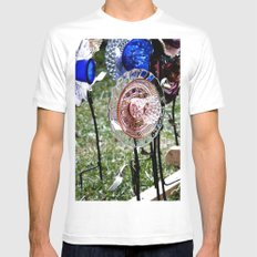 Tea Flower Mens Fitted Tee White SMALL