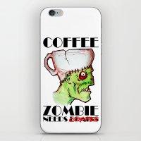Coffee Zombie iPhone & iPod Skin