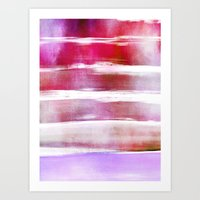 waves - pink Art Print