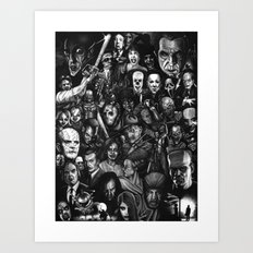Many Faces Art Print
