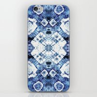 Blue Silk Tie-Dye iPhone & iPod Skin